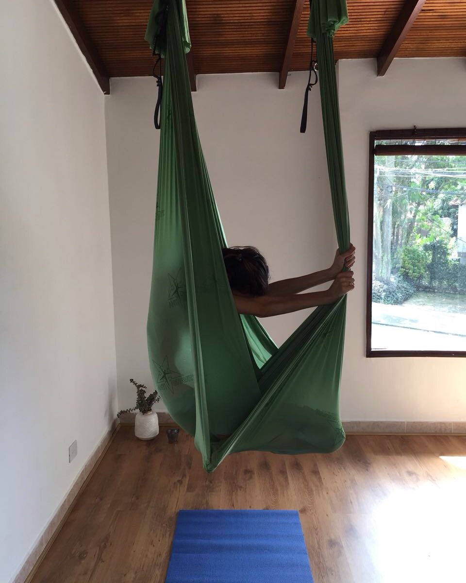 Practicing Antrigravity Yoga
